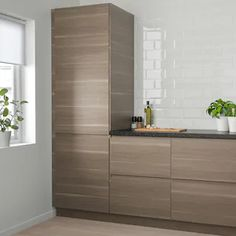 "VOXTORP Door, walnut effect, 18x30"" - IKEA Modern Kitchen Design, Interior Design Kitchen, Kitchen Designs, Voxtorp Ikea, Armoire Ikea, Kitchen Cabinet Doors, Kitchen Cabinets, Kitchen Appliances, Kitchen Backsplash"