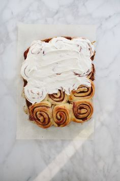 blackberry jam buns with crème fraîche frosting from @threadedbasil