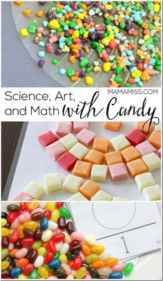 Super fun science, art and math candy activities for kids.