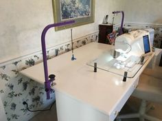 new machine quilting suspension system, literally suspend your quilt in the air, rendering the quilt weightless