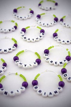 Wine Charms!!  Hoping one of my creative peeps sees this and makes one for each of us!  ;-)