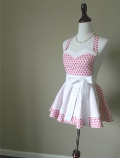Cute! (I might actually cook more if I had something like this to wear int he kitchen...)