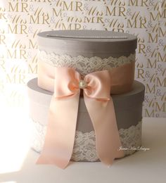 Wedding Card Box, Money Box, Gift Card Holder - Choose your own color. $95.00, via Etsy.