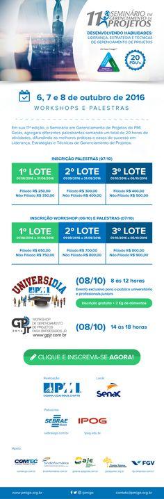 11º Seminário em Gerenciamento de Projetos : PMI – Goiás | Site oficial do PMI –…