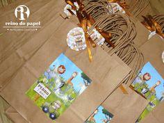 Lembrança festa Safari- sacolas personalizadas
