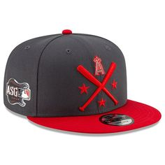 big sale 1a1f0 96856 Men s Los Angeles Angels New Era Graphite Red 2019 MLB All-Star Workout  9FIFTY