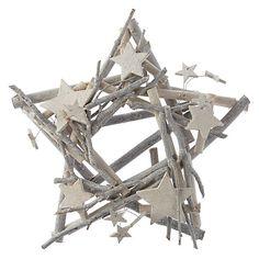 Buy John Lewis Snowdrift Flitter Whitewash Star Candleholder Online at johnlewis.com
