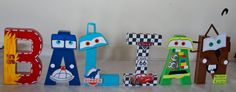 Disney Letters 8  CARS Theme by AdhuCreations on Etsy, $78.00