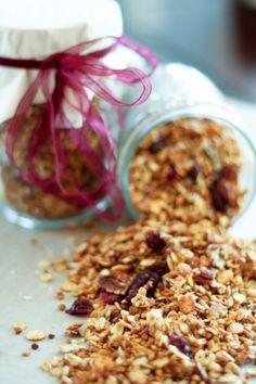 Truly Healthy Cranberry Pecan Granola
