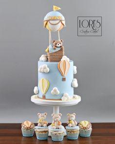 Baby Shower - cake by Lori Mahoney (Lori's Custom Cakes) Tortas Baby Shower Niña, Torta Baby Shower, Baby Shower Cakes For Boys, Baby Boy Cakes, Shower Baby, Babyshower Cake Boy, Baby Shower Balloons, Baby Showers, Baby Boy 1st Birthday Party