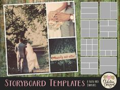 Photoshop Templates - Multiple Photo Photography Templates - Storyboard Photo Templates - Layered Templates Digital Templates Collage by ClikchicDesign by Clikchic Designs Photoshop Photos, Photoshop Photography, Storyboard Template, Graphic Design Tools, Photography Templates, Multi Photo, Photoshop Elements, Photoshop Actions