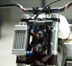 The Bottpower BOTT A racier and more custom version of the Harley-Davidson (The BOTT is actually based off a Buell motor), Bottpower has done such a good job making the Buell look Alana Blanchard hot that the Voltron generation will forg Cafe Racer Moto, Cafe Racer Parts, Cafe Racing, Cafe Racer Headlight, Led Motorcycle Headlight, Street Tracker, Tracker Motorcycle, Scrambler Motorcycle, Triumph Scrambler