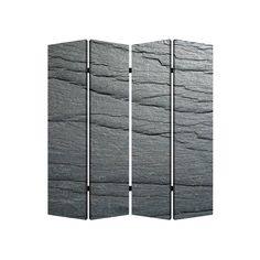 Screen Gems Black Slate 4-Panel Room Divider