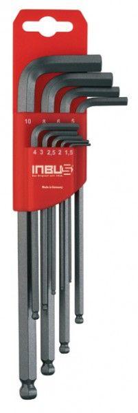 INBUS® 70242 - 9tlg. 1,5-10mm Made in Germany      Satz 9tlg. 1.5-10mm     dank Eurolochung aufhängbar     10 Jahre Garantie     Marke: INBUS® - Das Original seit 1934.  http://www.inbus.de/home/inbus-metrisch-kugelkopf/55/inbus-70242-inbusschluessel-satz?c=6