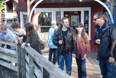 Bam holding Rainy's hand. Fishing with Snowbird, Bear, Gabe and Matt.
