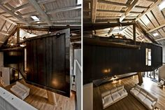 "MdAA turned an old stable into amazing apartment with an elevated ""treehouse"" bedroom"