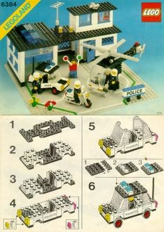 6384 Police Station - Instructions et catalogues LEGO bibliothèque Lego Duplo, Lego Toys, Legos, Lego Police Station, Lego Super Mario, Lego Challenge, Lego Blocks, Vintage Lego, Lego Storage