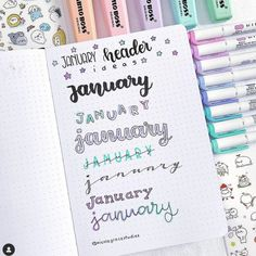 Best Bullet Journal Fonts and Headers for Every Month - The Smart Wander