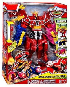 Power Rangers Dino Charge - Dino Charge Megazord (Discontinued by manufacturer) Power Rangers Megazord, Power Rangers Dino, Power Rangers Movie Suits, Power Rangers Action Figures, Power Rangers Samurai, Pawer Rangers, Power Ranger Cake, Power Ranger Party, Optimus Prime Toy