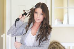 """Simply natural: Wavy hair tutorial from The Daybook blog - Using quality dry shampoo, a 3/4"""" barrel curler, and hairspray, this look lasts three days!"""