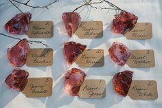 Wedding escort cards. Slag glass. A Moody Fall Woodland Styled Shoot (7)