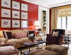Red Living Room Ideas Red Walls In Living Room. Living Room Red, Living Spaces, Cozy Living, Living Area, Sala Grande, Design Salon, Design Art, Design Ideas, Blog Design