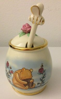 Classic Pooh Honey Pot Lenox Fine Ivory China Disney Winnie The Pooh Collectible | eBay