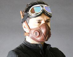 STEAMPUNK-Maske Leder Halbmaske Halloween von SteampunkMasks