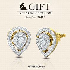 JEWEL HUB - Gift Needs No Occasion | Starts From Rs. 8,500/-  http://www.jewelhub.com/earrings-for-girls-gold-earrings-earrings-online.html