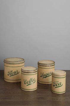 One-of-a-Kind Vintage Kitchen Canister - Set of 4
