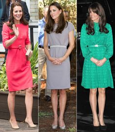 Whether she opts for a matching one or not, Middleton knows that a slim belt is a chic way to create a waistline. Just don't place it too high on your waist if you have a larger bust.  - GoodHousekeeping.com