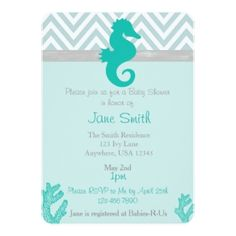 Surf Baby Shower Invitation Vintage Style   Baby On Board  Brown And Teal   Beach Theme Baby Shower For A Boy  Surfboard  Digital Or Printed In Theu2026