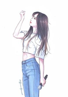 Gfriend Yuju Fanart You can find Kpop fanart and more on our website. Cool Anime Girl, Pretty Anime Girl, Beautiful Anime Girl, Anime Art Girl, Beautiful Girl Drawing, Manga Girl, Girly Drawings, Kpop Drawings, Art Drawings