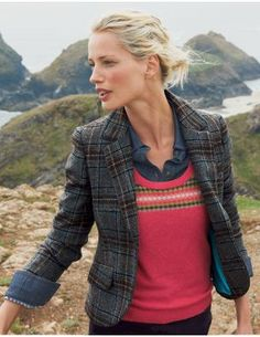 084e150e fair isle and tartan Tweed Blazer, Tweed Coat, Tweed Jacket, Blazer Jacket,