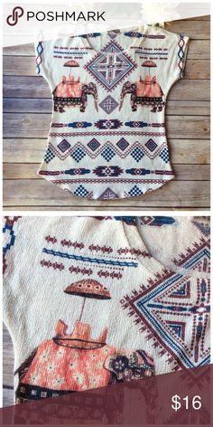 GAZE KNIT TEE Very soft Polyester 4% Spandex knit.  Worn once Gaze Tops