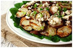 Grilled Potato Salad with Blue Cheese Vinaigrette