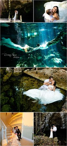 Underwater Wedding Bridal Boudoir Engagement Anniversary Photo Shoot + Dreams Tulum » Critsey Rowe Wedding Photography | Charlotte | New Yor...
