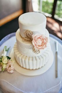 Sunny Girl Cakes -rustic and elegant wedding cake. sugar peony, white wedding cake. stencilling, stripes, rustic, twine, elegant, maleny manor, sunshine coast