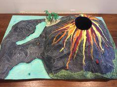 Top View Paper Mache Volcano