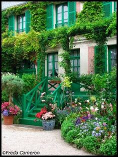 Monet's house at Giverny, France.  One of the most beautiful places I've visited in my life. His house is art and the area is art. No wonder he painted so beautifully his world was his canvas.