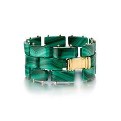 The District Link Cuff Bracelet - Malachite – Madyha Farooqui Fine Jewelry, Women Jewelry, Jewellery, Gold Jewelry, Malachite Jewelry, Vogue, Luxury Jewelry, Crystal Necklace, Handcrafted Jewelry