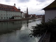 The river Isar at Landshut