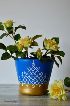 Excited to share the latest addition to my shop: indian rangoli glass vase