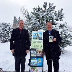 Memorial campaign on this snowy day in Castle Rock Colorado USA. Photo shared by @ericehlers