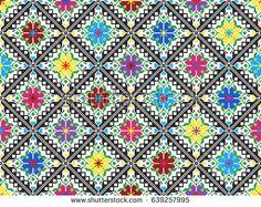 embroidered good like old handmade cross-stitch ethnic Ukraine pattern.