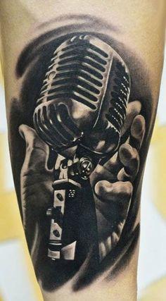16 Rockabilly Microphone Tattoos | Tattoodo.com