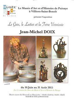 Grès Puisaye : Exposition Jean Michel Doix