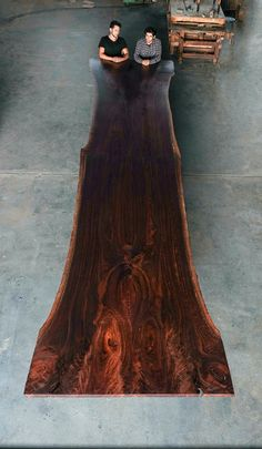 taylordonsker:Our live edge Oregon Black Walnut dining table for...