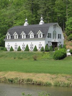 Beautiful gambrel barn with what appears to be 2nd floor living quarters