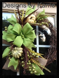 20 Best DIY Fall Wreath Ideas for Your Front Door When the weather turns cooler, I like to decorate my door for fall. In this post find 20 Best DIY Fall Wreath Ideas for your front door. Diy Fall Wreath, Autumn Wreaths, Wreath Crafts, Summer Wreath, Holiday Wreaths, Christmas Decorations, Holiday Decor, Wreath Ideas, Fall Door Wreaths